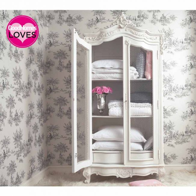 White French Display Armoire