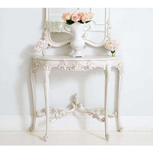 Luxury White French Hallway Table
