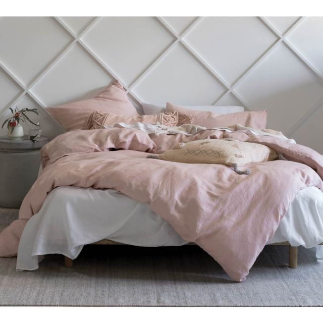 Pure Linen Rose Bed Linen Set