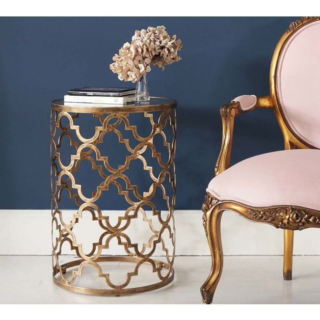 Luxury Gold Bedside Table