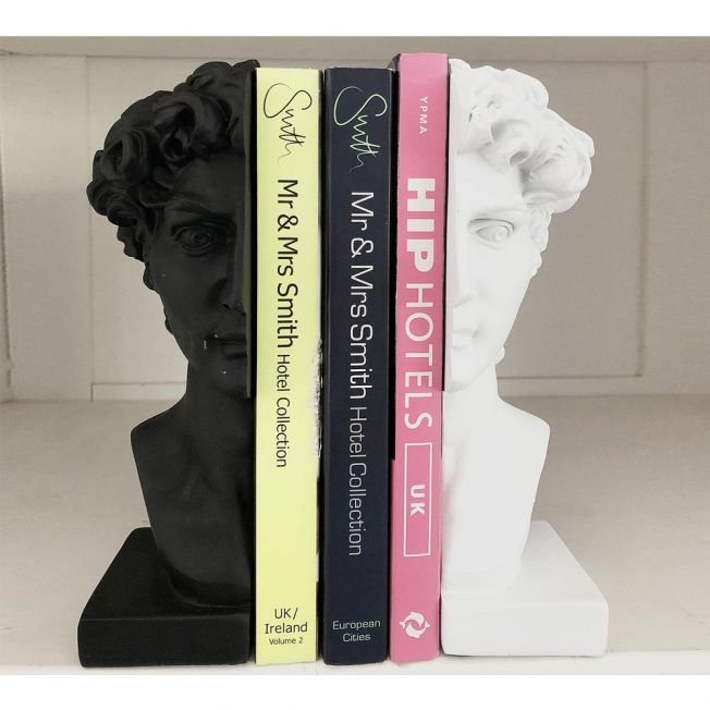 Male Grecian Bust Bookends