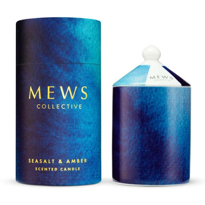 Seasalt and Amber Luxury Scented Candle by Mews Collective