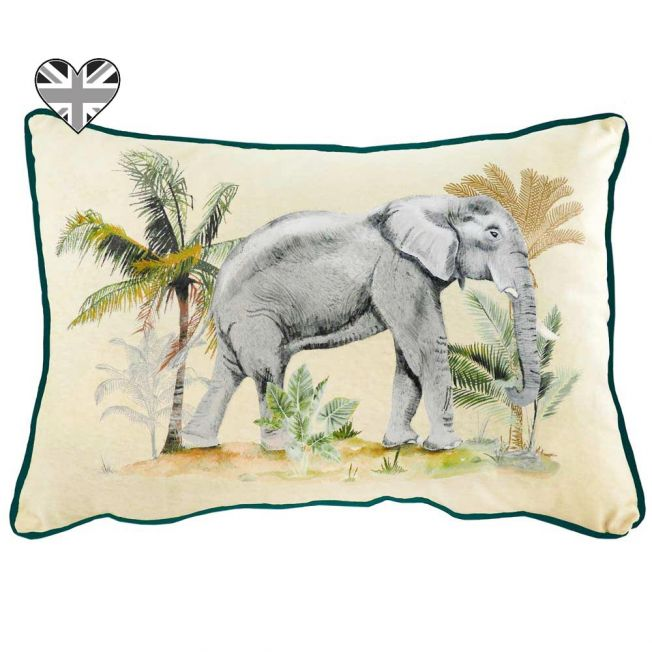 Serengeti Elephant Velvet Cushion