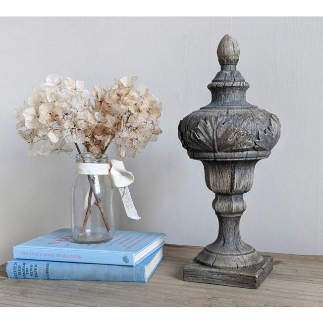 Naturally Distressed Wooden Decorative Finial