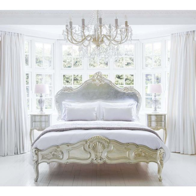 Sylvia Serenity Silver French Bed