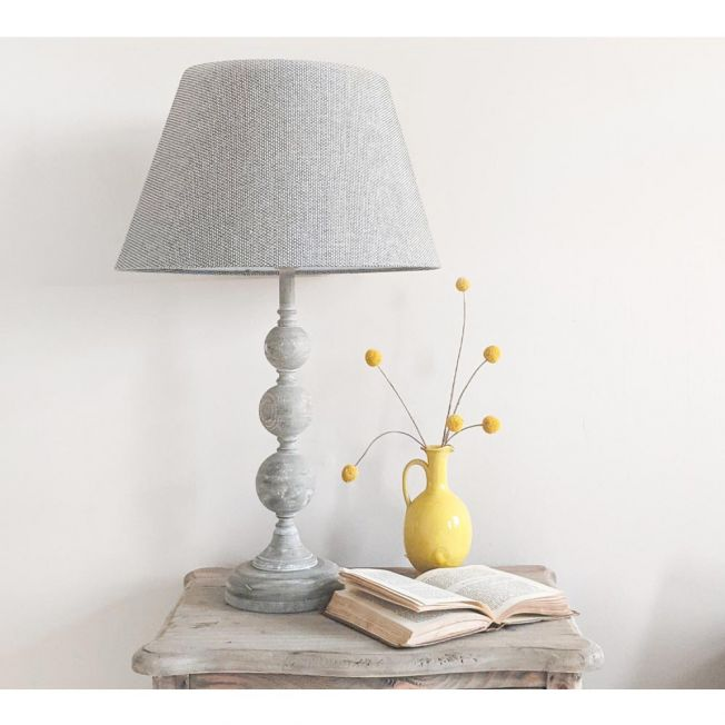 Turned Brown Table Lamps