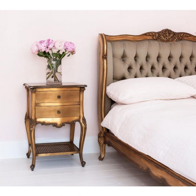 Classic Gold Bedside Table