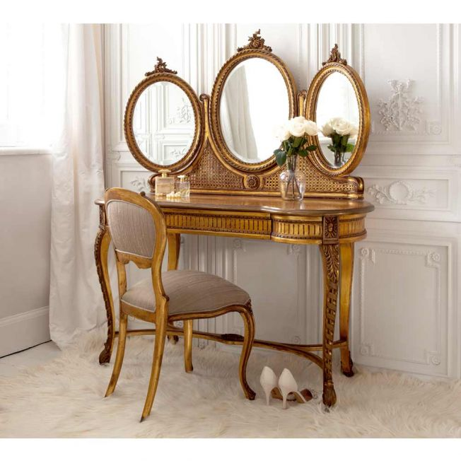Versailles Gold French Dressing Table