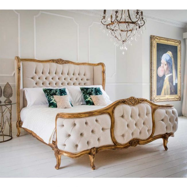 Brushed Gold Luxury Superking Bed