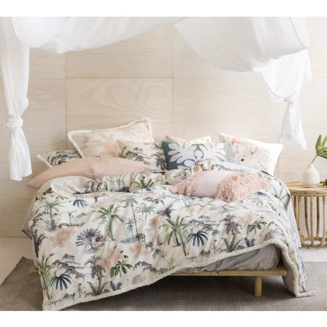 Tropical Print Cotton Bed Linen