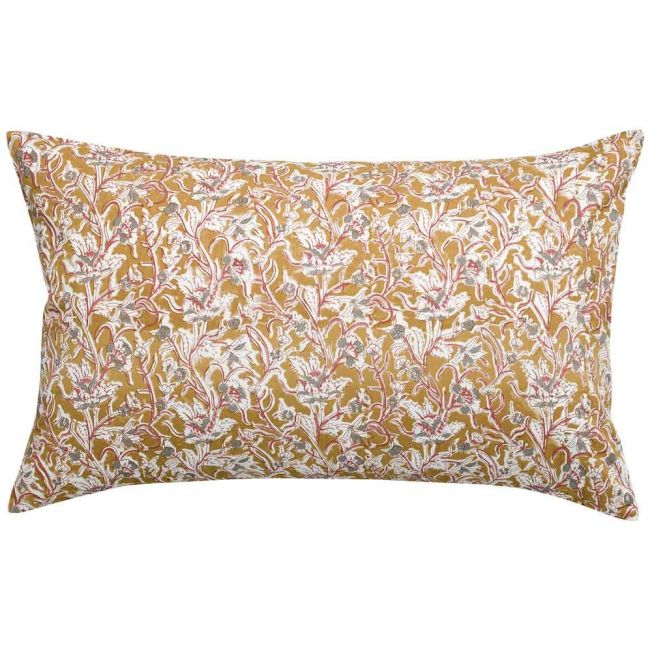 Prarie Floral Cushion in Mustard