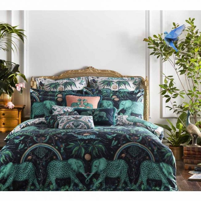 Zambezi Teal Bed Linen by Emma J Shipley