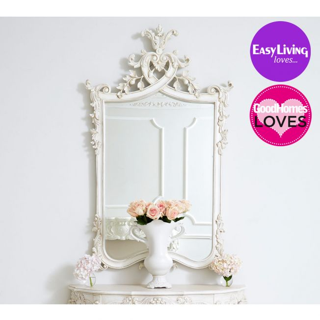 Provencal Heart Top French Mirror