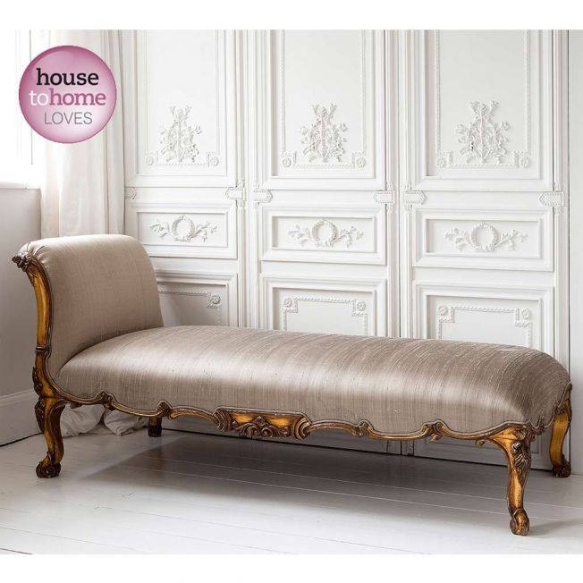Versailles Gold Chaise Longue