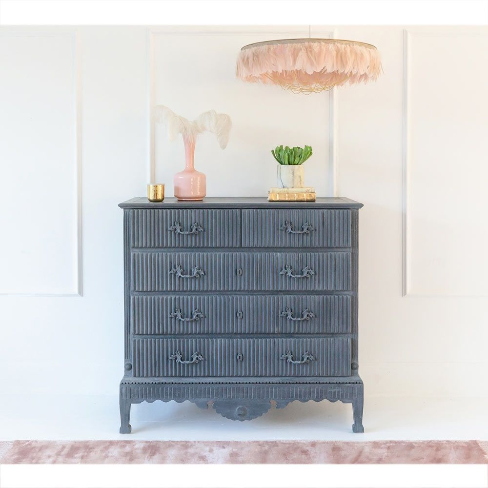 Odeline Dusky Blue Chest Of Drawers