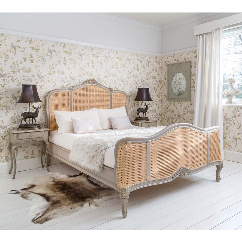 french bedroom.  Normandy Rattan Painted French Bed Luxury