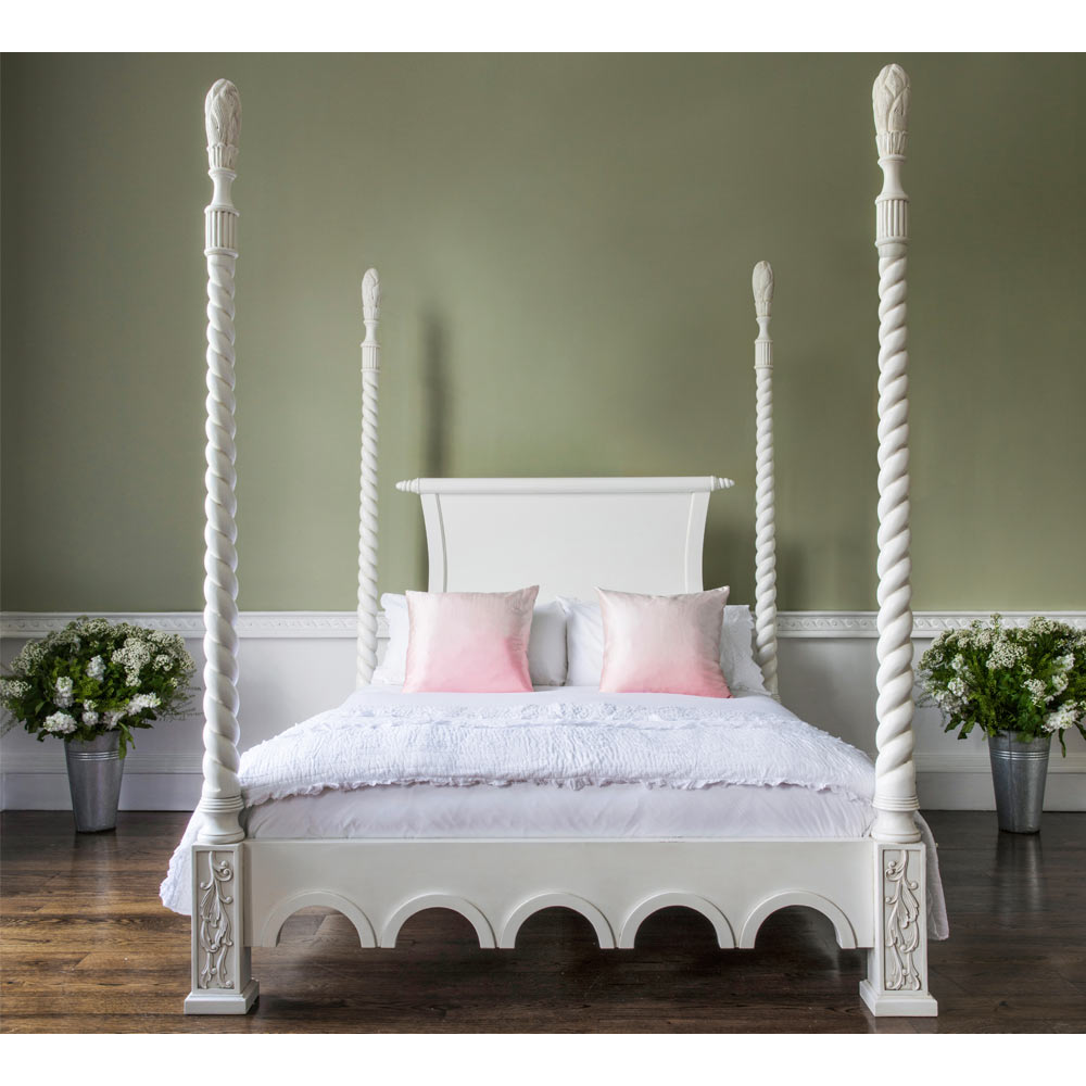 Four Poster Bed Provencal Four Poster White Bed Luxury Bed