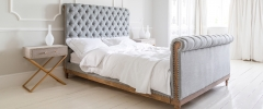 Lottie High Footboard Chesterfield Bed