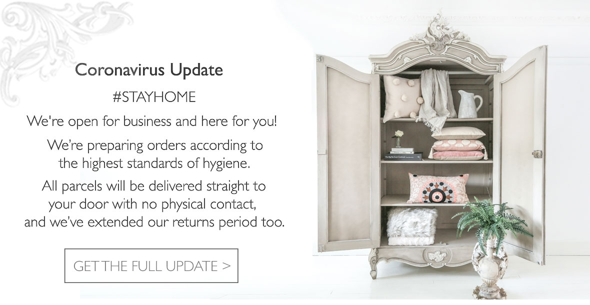 French Furniture and Luxury Bedroom Accessories during the Coronavirus lockdown