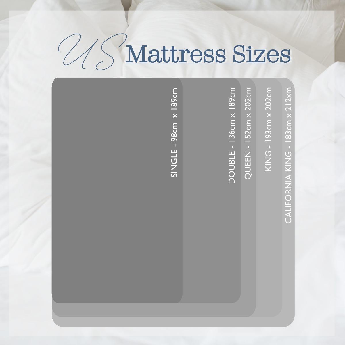US Mattress Size Chart
