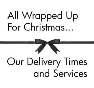 Our Christmas Delivery Schedule