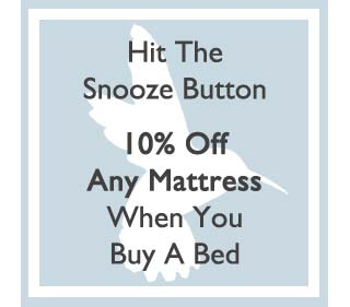 Buy any bed and get 10 percent off any mattress (including Vispring)