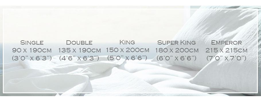 UK Mattress Sizes