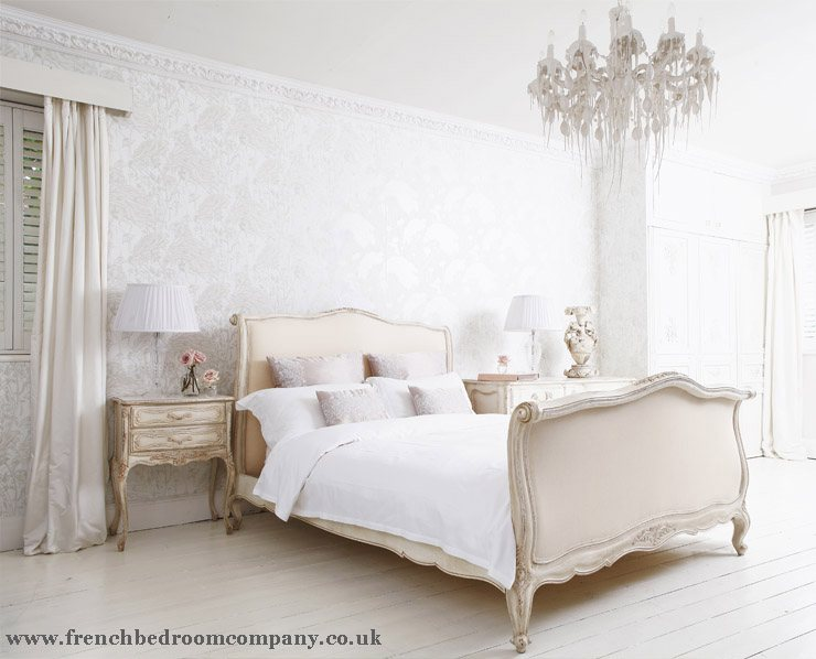 White French Shabby Chic Bed