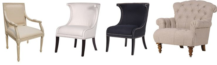 French Upholstered Bedroom Chairs