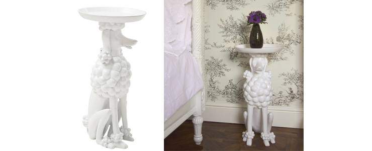 Obedient Poodle Side Table