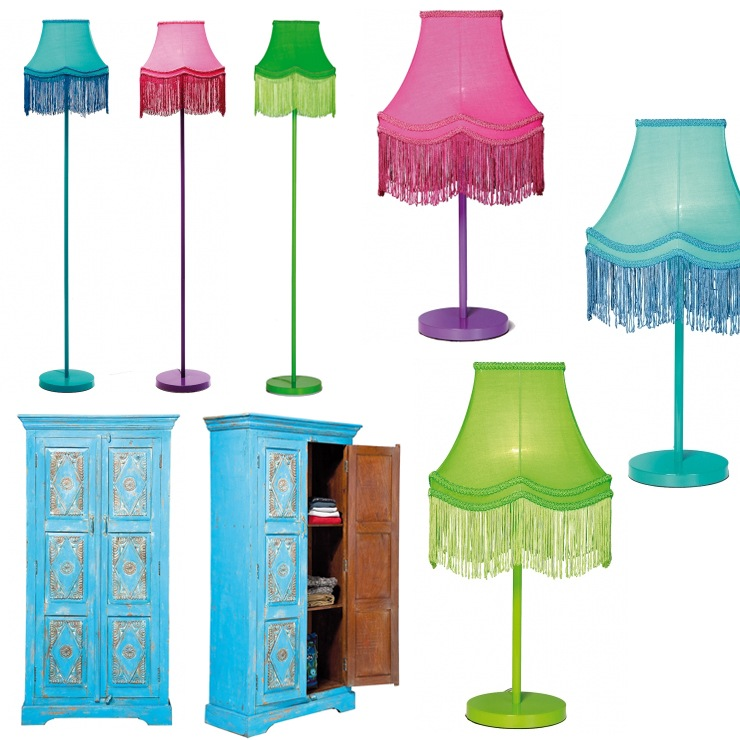 Fluoro Fringe Lighting & Formentera Armoire