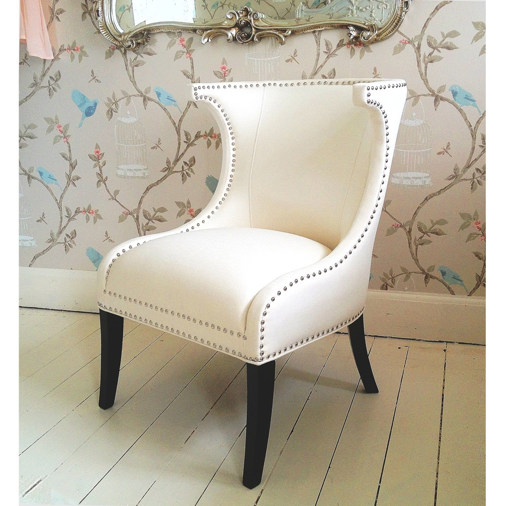 Designer mayfair white wing chair french bedroom company - Sillones retro vintage ...