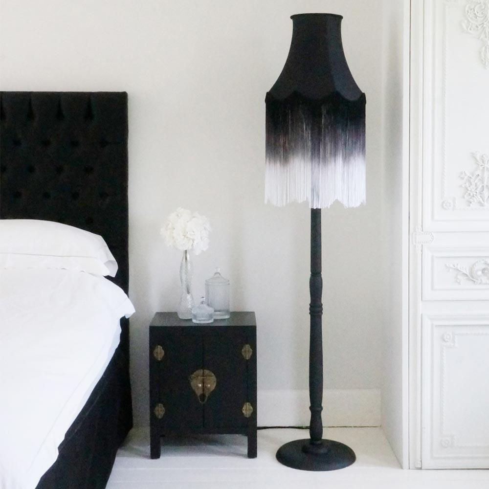 fade fringe floor lamp black to white french bedroom