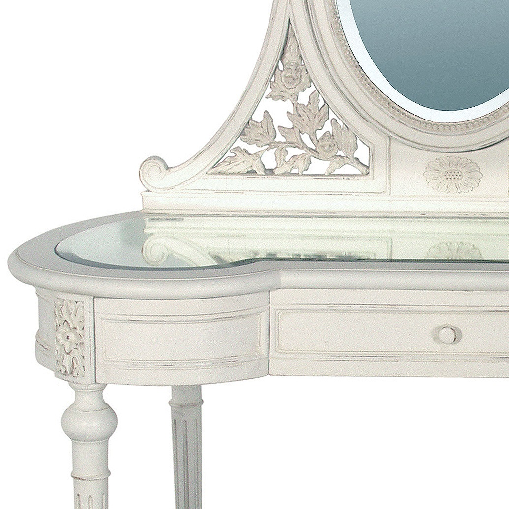 Provencal White Dressing Table (Image 4) by The French Bedroom Company