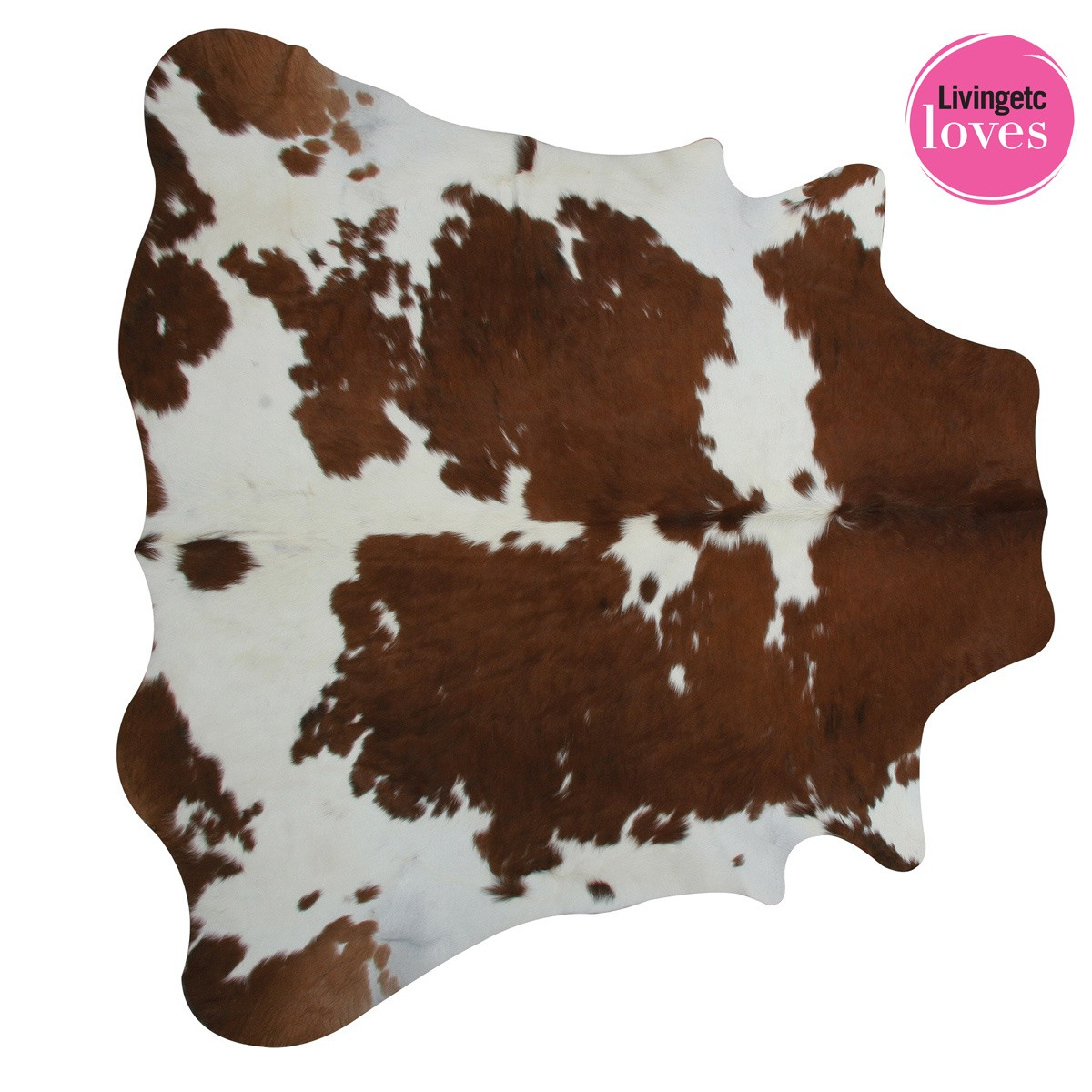 Brown Amp White Cowhide Rug French Bedroom Company