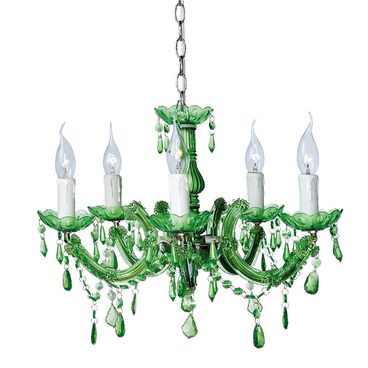 Emerald Green French Beaded Chandelier, French Bedroom Company