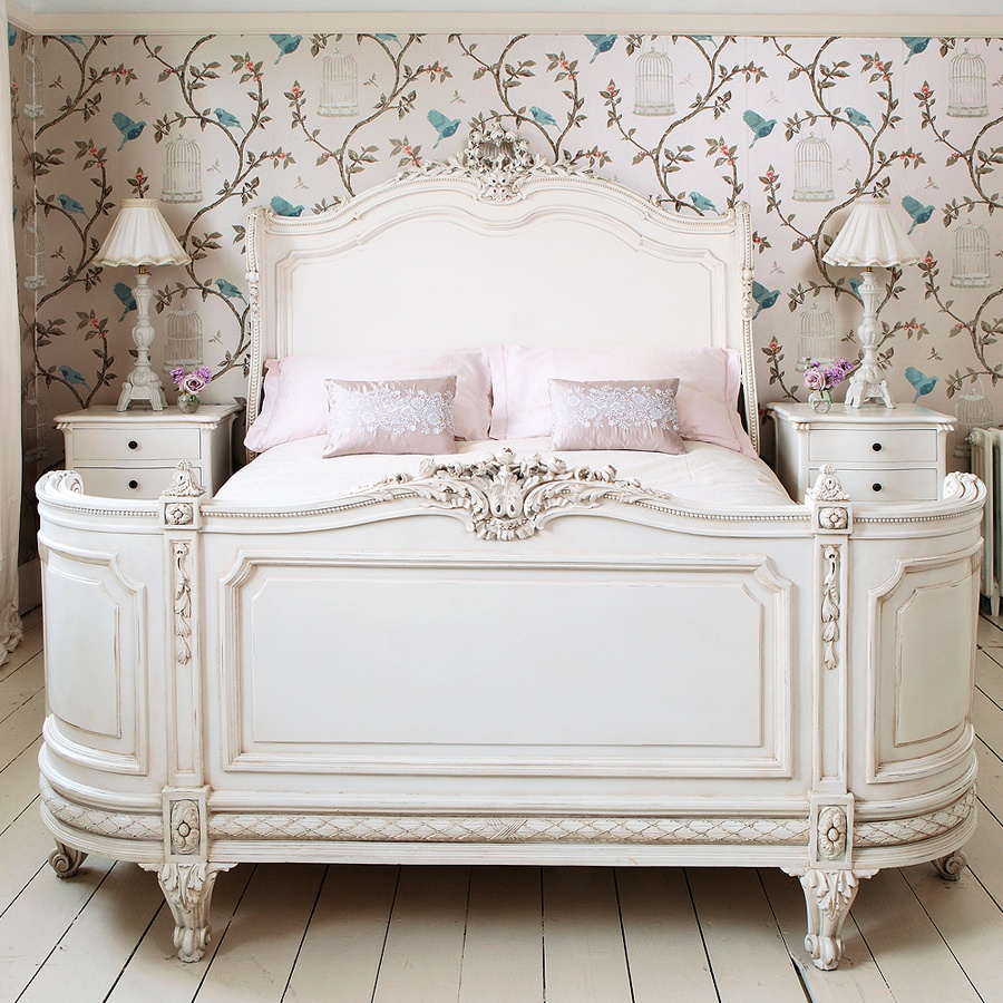 ! Provencal Bonaparte French Bed | Provencal White Bedroom Furniture ...