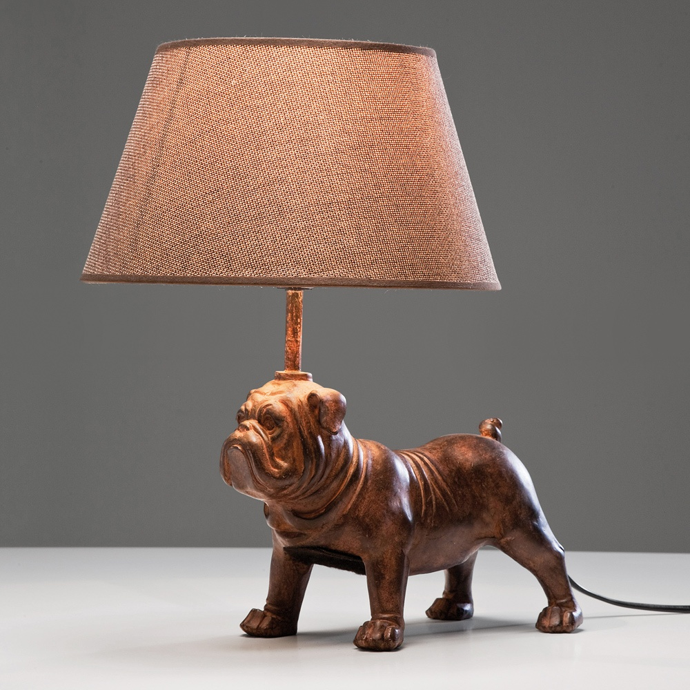 Petit Bouledogue Bulldog Table Lamp French Bedroom Company