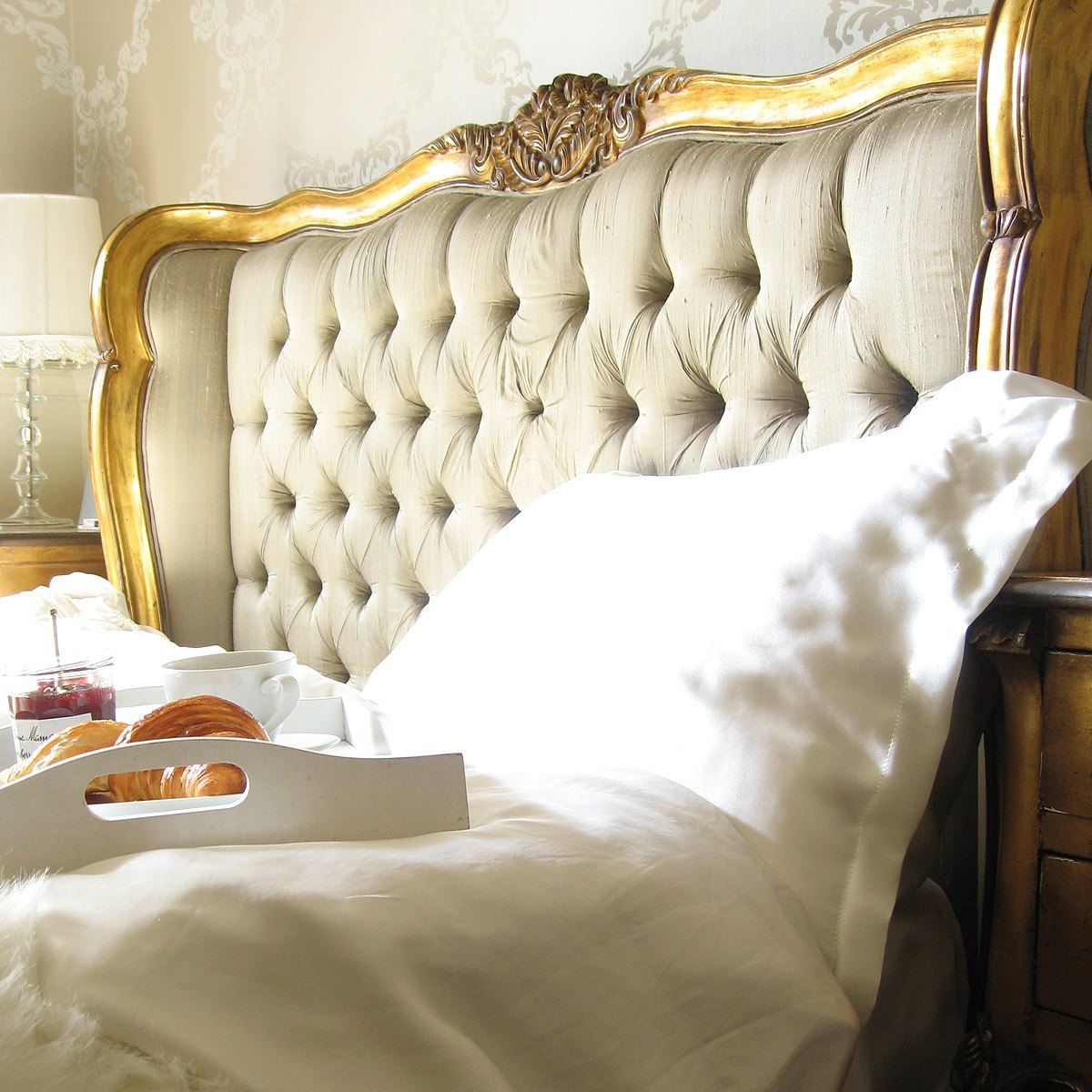 Versailles Gold Upholstered Bed French Bedroom Company