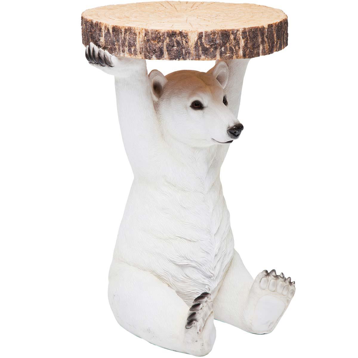 Polar Bear Animal Side Table, French Bedroom Company