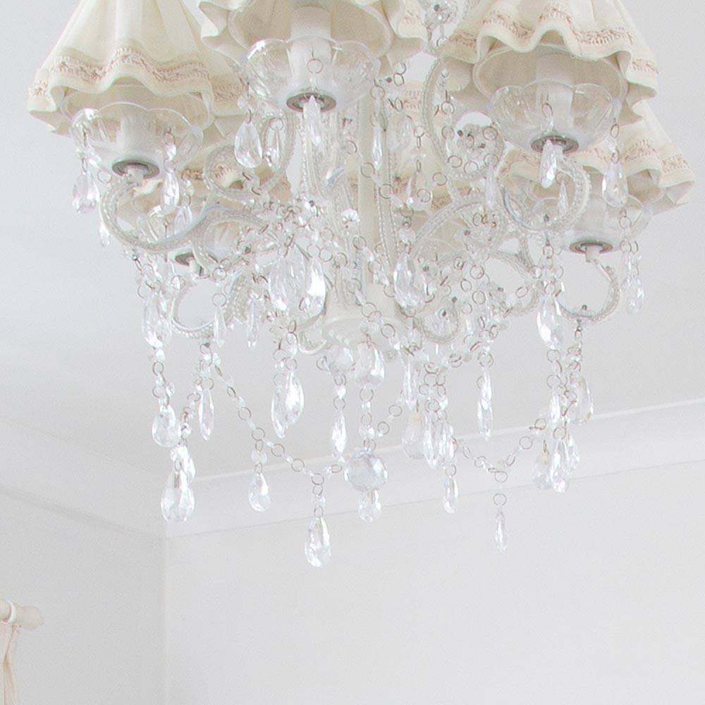 princess crystal glass french chandelier french bedroom