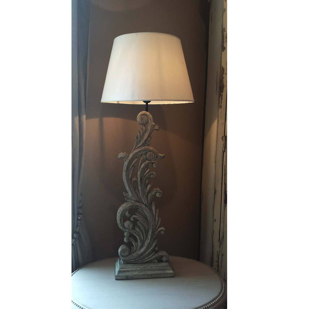 acanthus carved wooden table lamp french bedroom company