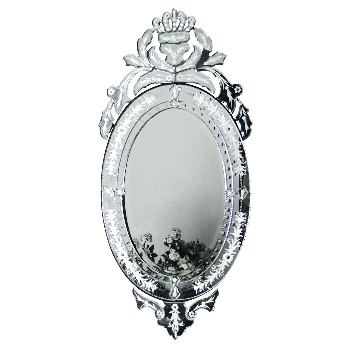 Venetian Iris Mirror (Image 1) by The French Bedroom Company