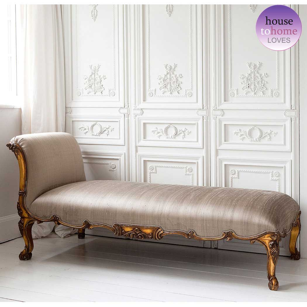 versailles gold chaise longue french bedroom company. Black Bedroom Furniture Sets. Home Design Ideas