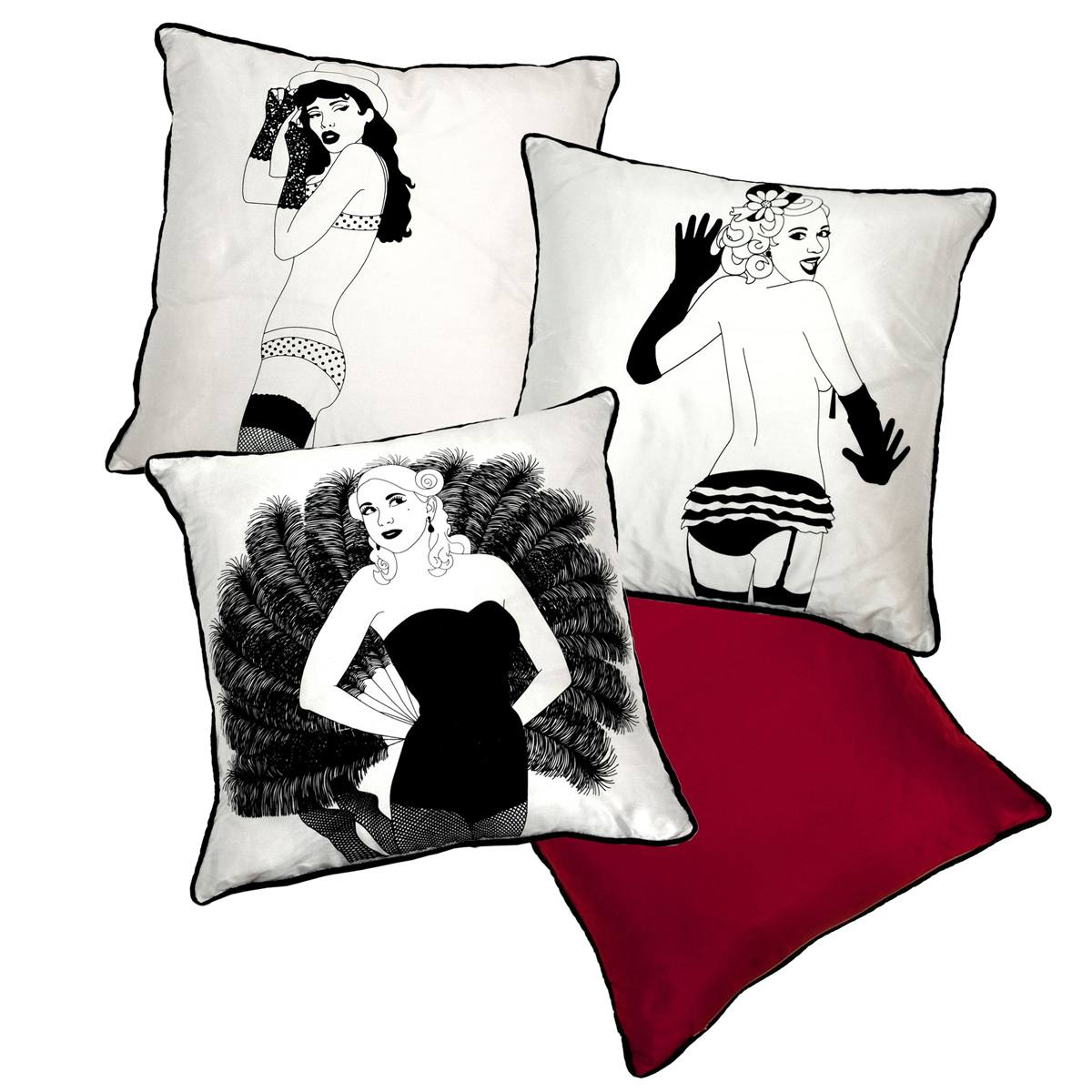 Pretty and stylish luxury cushions french bedroom company for Burlesque bedroom ideas