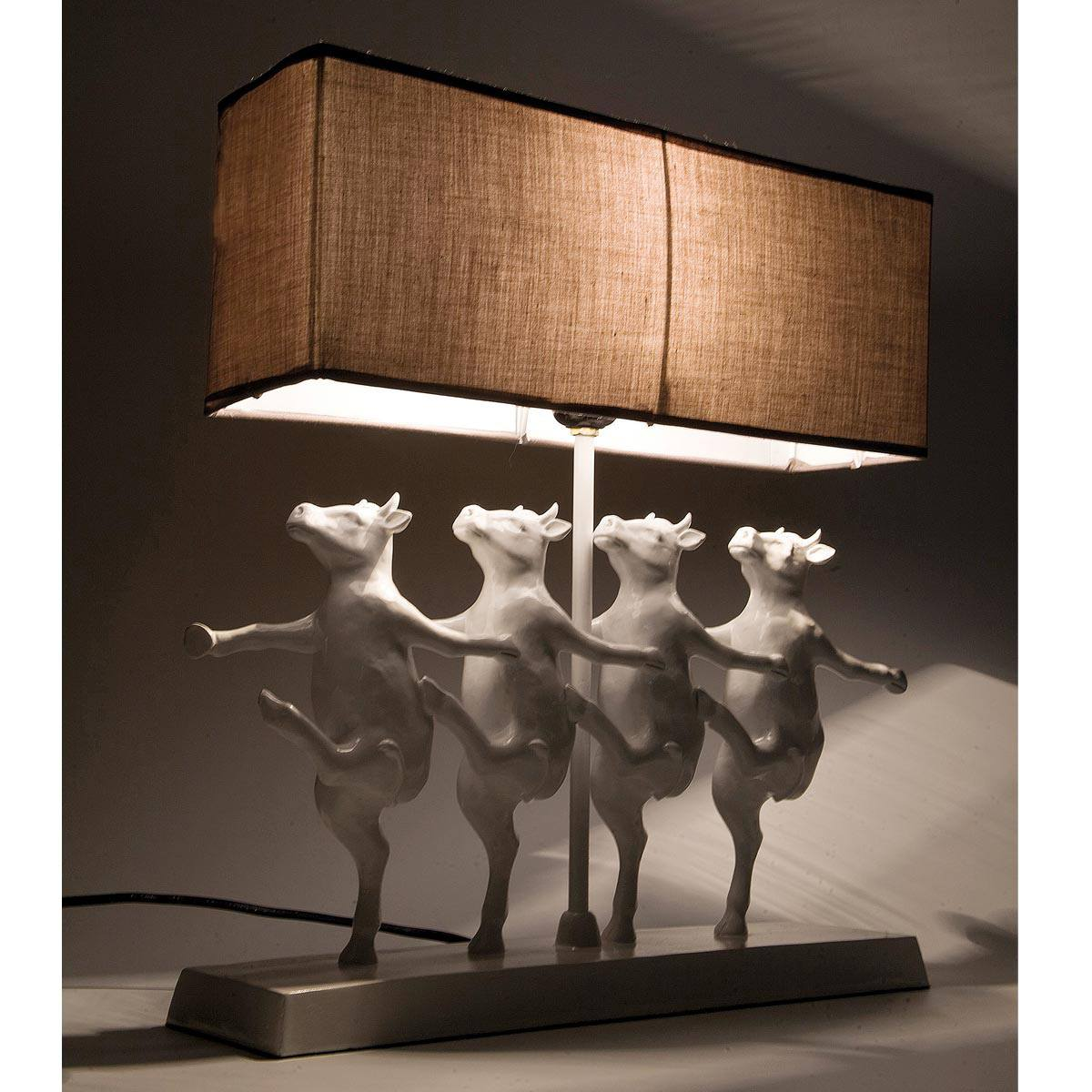 dancing cow figure animal quirky lamp french bedroom company