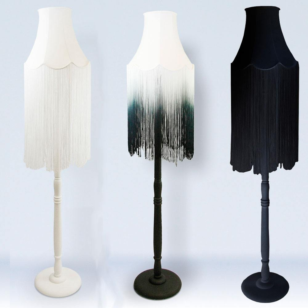 fade fringe floor lamp floor lamps lighting french. Black Bedroom Furniture Sets. Home Design Ideas