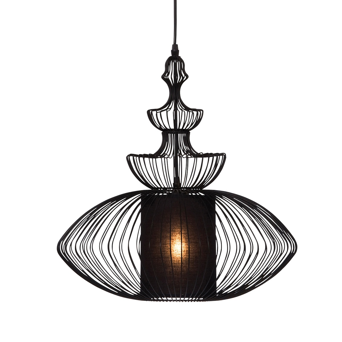 black wire shadow squat pendant light french bedroom company