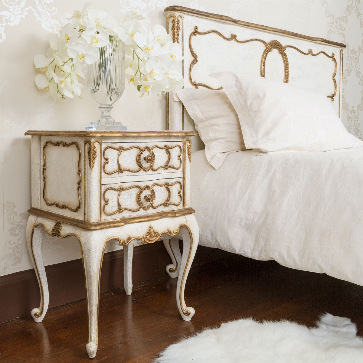 palais bedside table bedside tables tables french. Black Bedroom Furniture Sets. Home Design Ideas