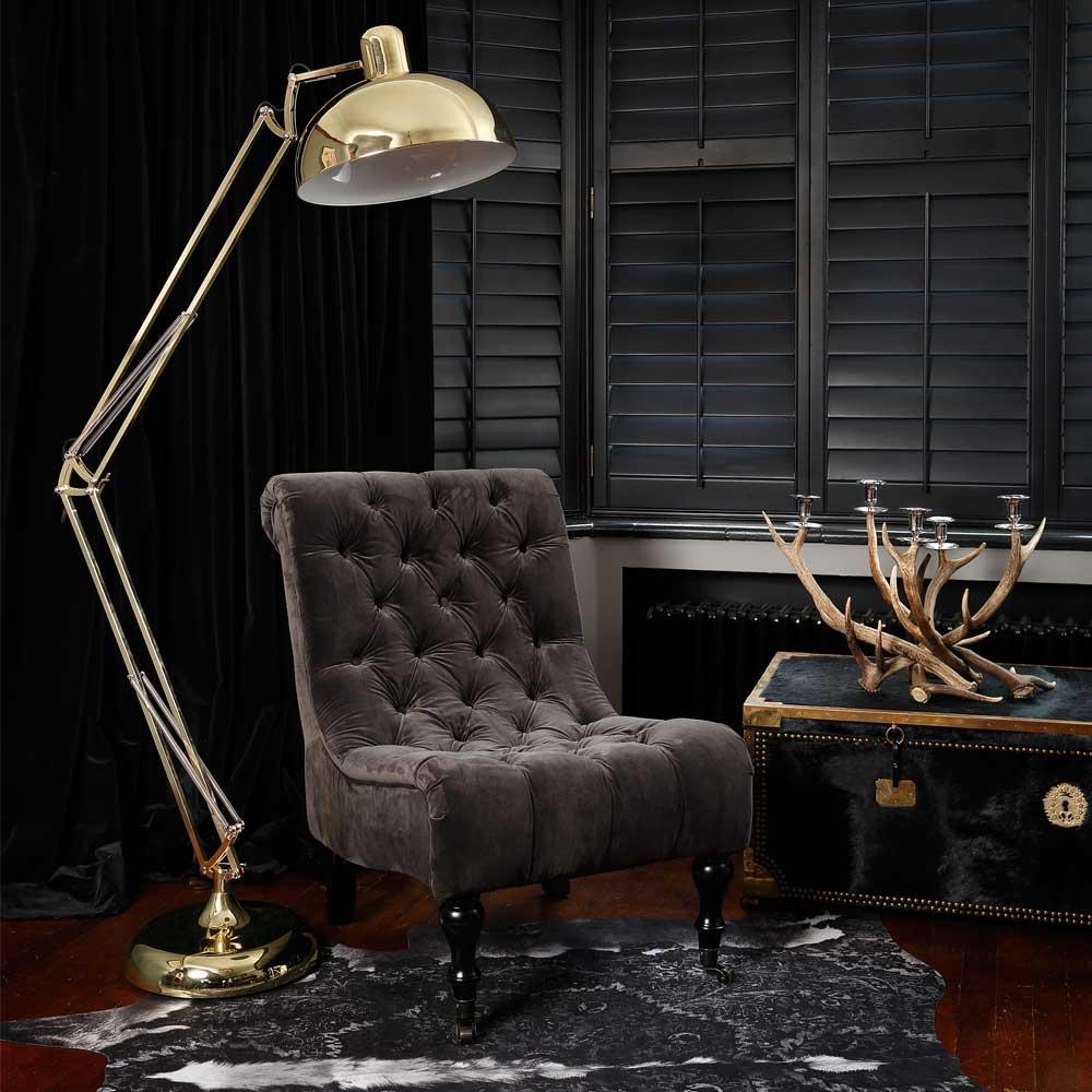the rock luxe dark velvet seat french bedroom company. Black Bedroom Furniture Sets. Home Design Ideas